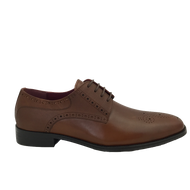 Escape Mens Mahogany Brown Laced Shoe JURY