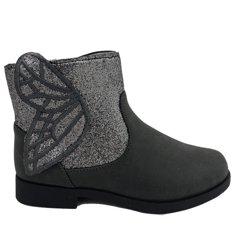 BMS Kids Grey Wings Ankle Boot