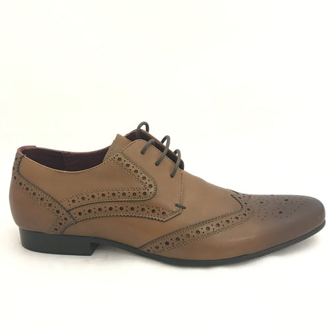 Escape Mens Tan  Laced Shoe Blanche