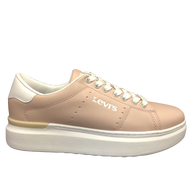 Levis Girls Pastel Pink Laced Trainer ELLIS MAX