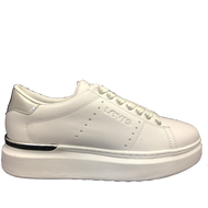 Levis Girls White Mirror Laced Trainer ELLIS MAX