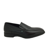 Kickers Mens Black Leather Slip-On Shoe JARLE 15241