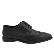 Hush Puppies Mens Black Laced Brogue Shoe ELLIOT