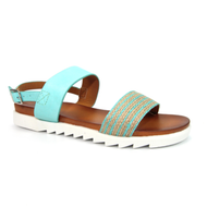 Lunar Turquoise Striped Detail Sandal WONDER JLC149 TQ