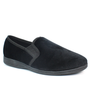 Goodyear Mens Memory Foam Black Slippers TAMAR