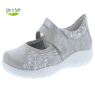 Remonte Velcro Shoe Silver/White Combination R3510-40