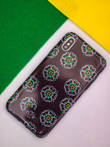 Black Yorkshire Rose iPhone Tough Case