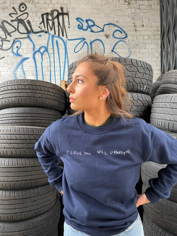 'I love you will you marry me' Charity Sweatshirt