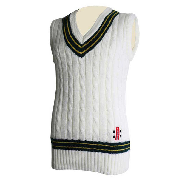 Sleeveless Sweater with Trim - Gray-Nicolls Sports