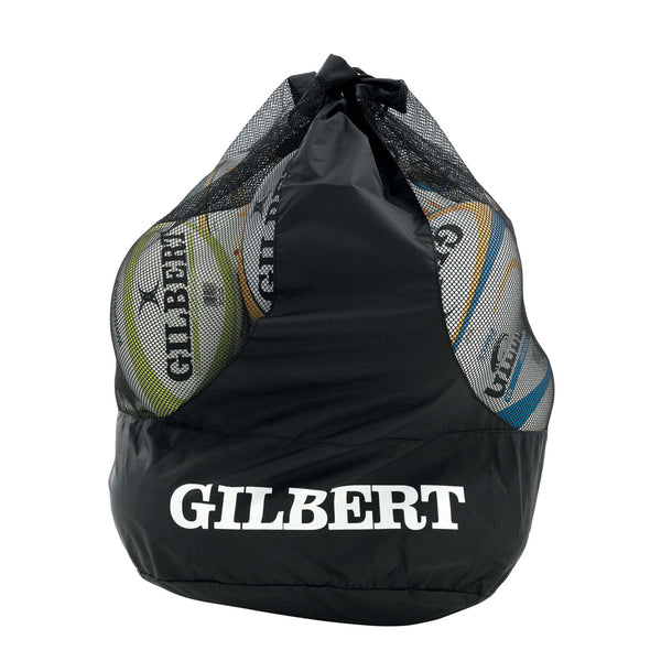 Dual Strap Ball Bag-Black (Holds 12) - Gray-Nicolls Sports