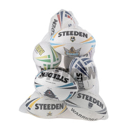 Mesh Ball Bag-White (Holds 12) - Gray-Nicolls Sports