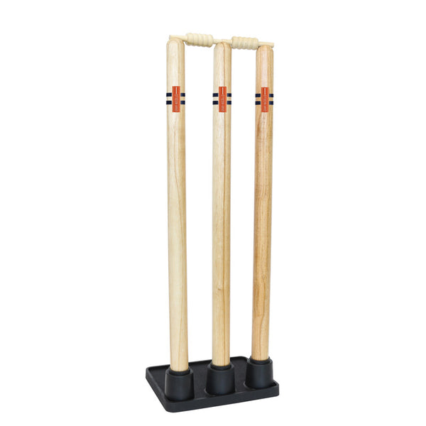 Wooden Stumps with Rubber Base - Gray-Nicolls Sports