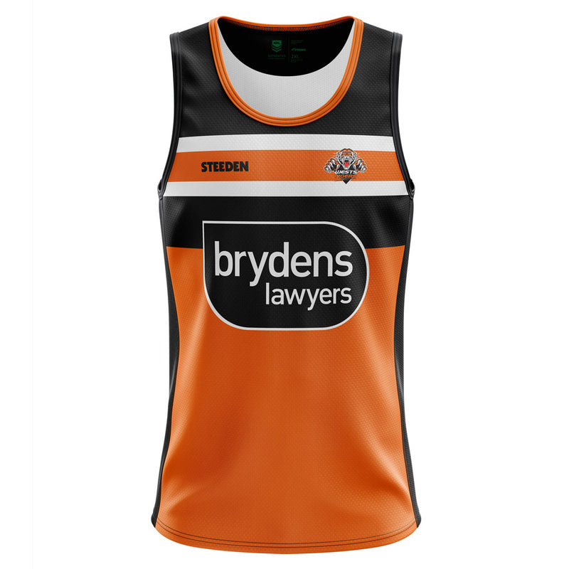West Tigers 2021 Juniors Replica Players Training Singlet - Gray-Nicolls Sports