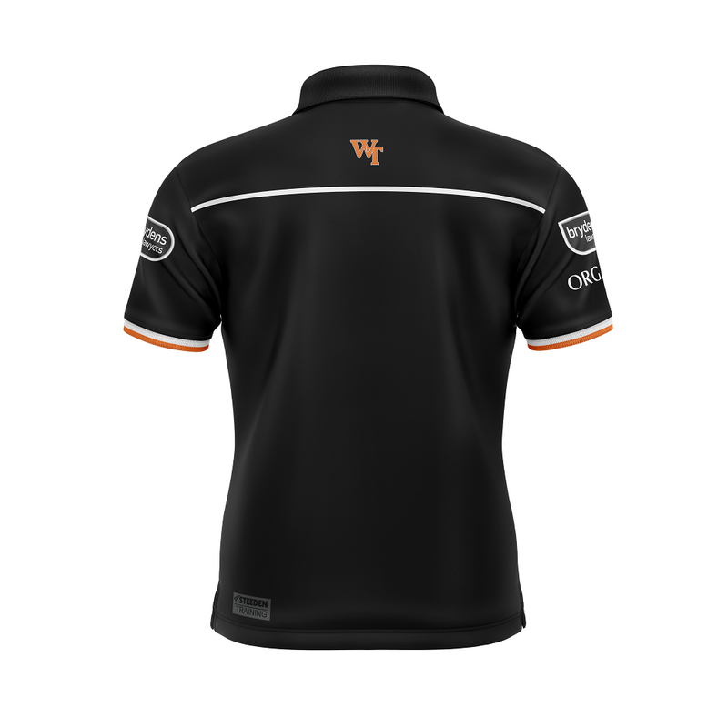 West Tigers 2021 Juniors Replica Players Media Polo - Gray-Nicolls Sports