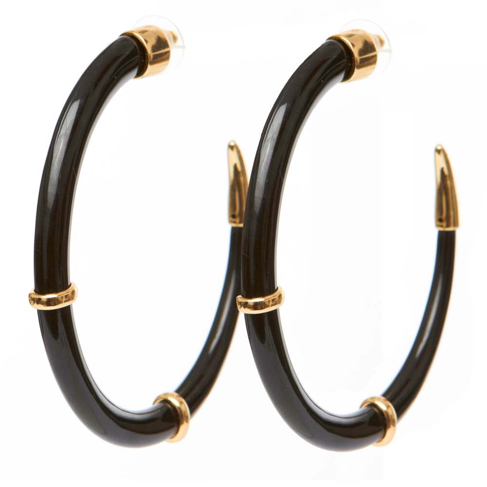 black products melody earrings ehsani ruhiyyih gold
