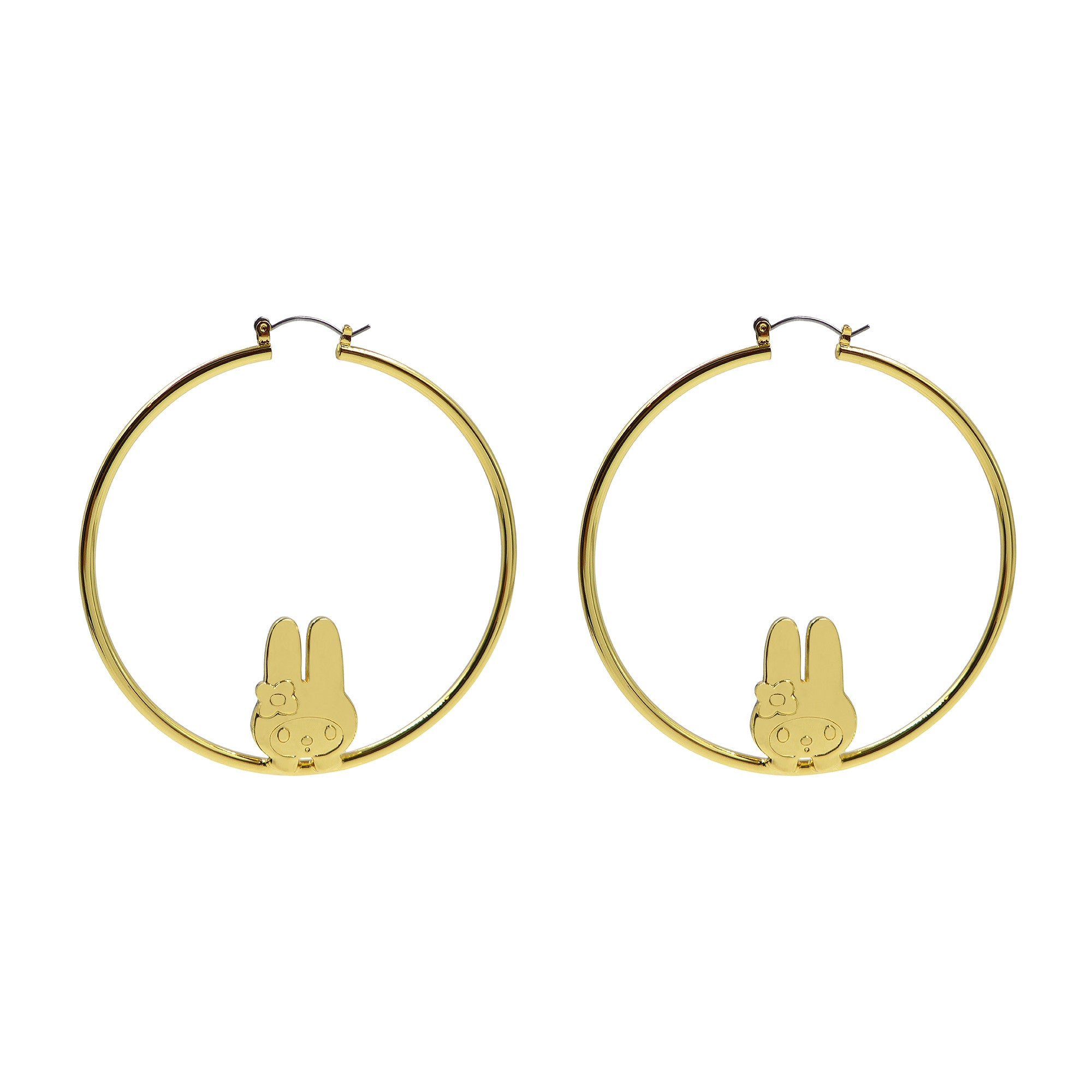 hoop elyse my way hood earrings gold hammered products mark for