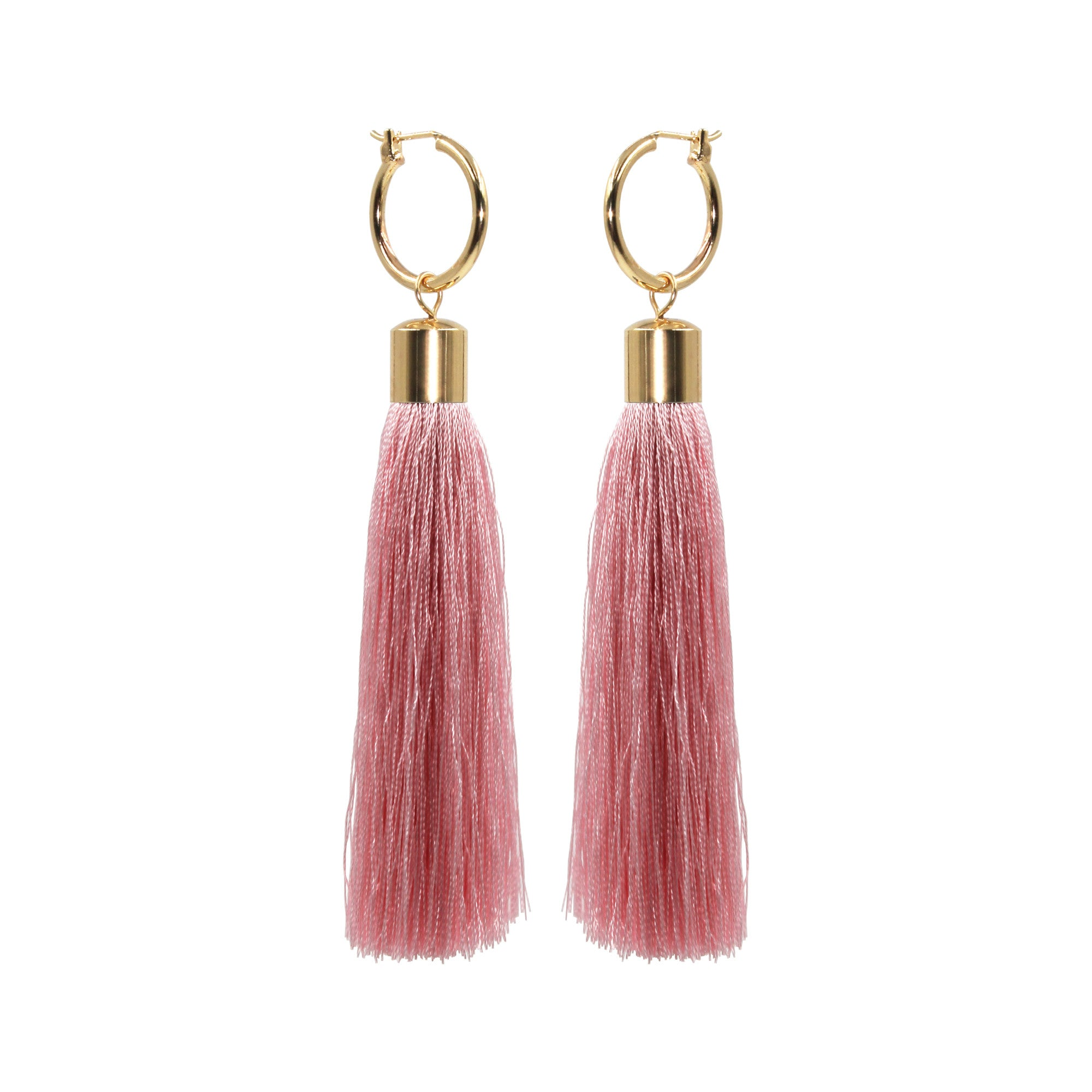 pink lual floss small tassle fairy earrings statement tassels product tassel
