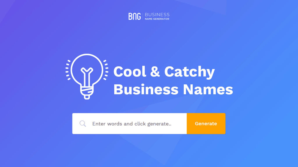 Business Name Generator (BNG)