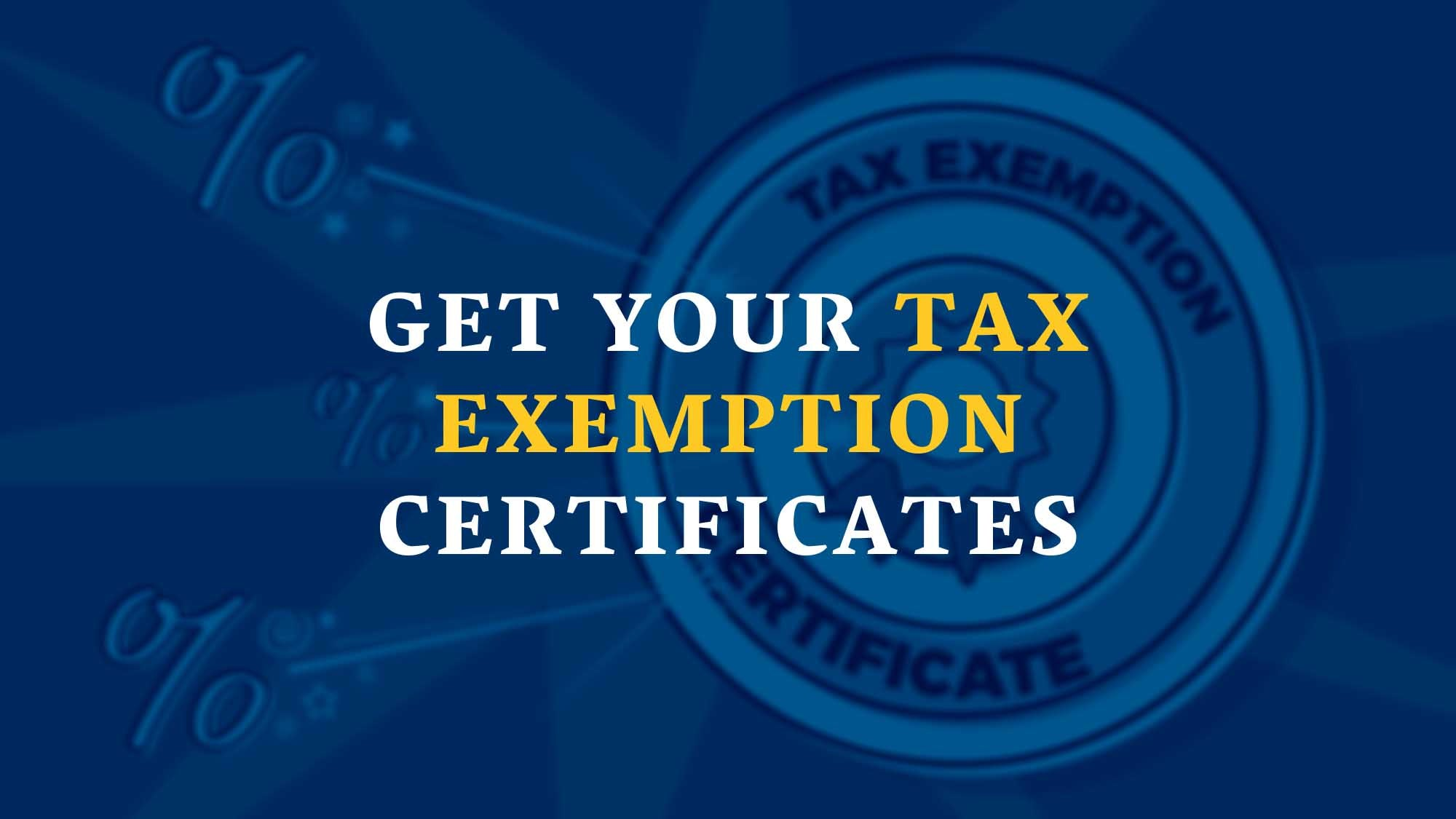 Get Your Tax Exemption Certificates - DropshipUSA