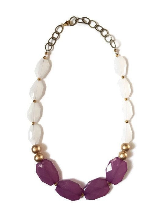 Sangria Purple Statement Necklace