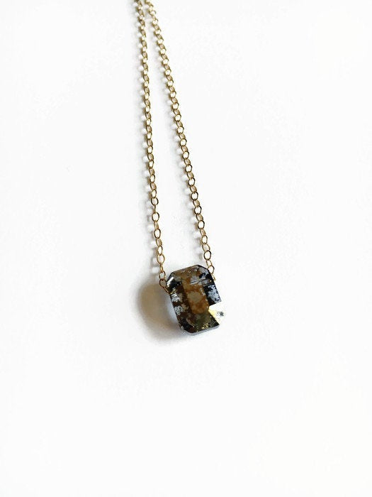 Patina Swarovski Crystal Gold Necklace