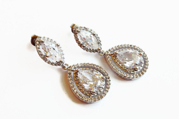 The Christina Earrings with Marquise Post