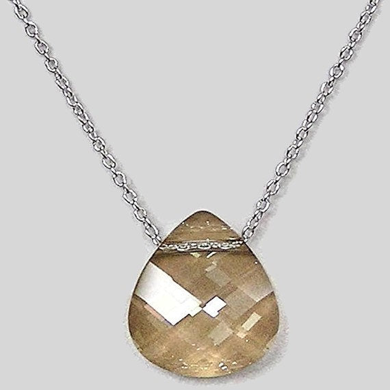 Swarovski Gold Shadow Necklace