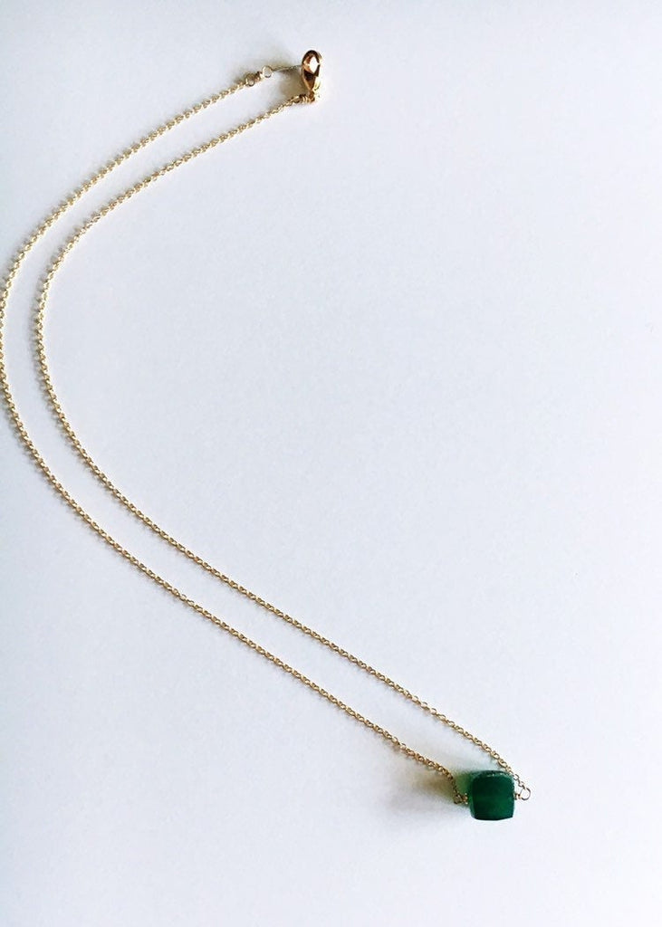 Green and Gold Pendant Necklace