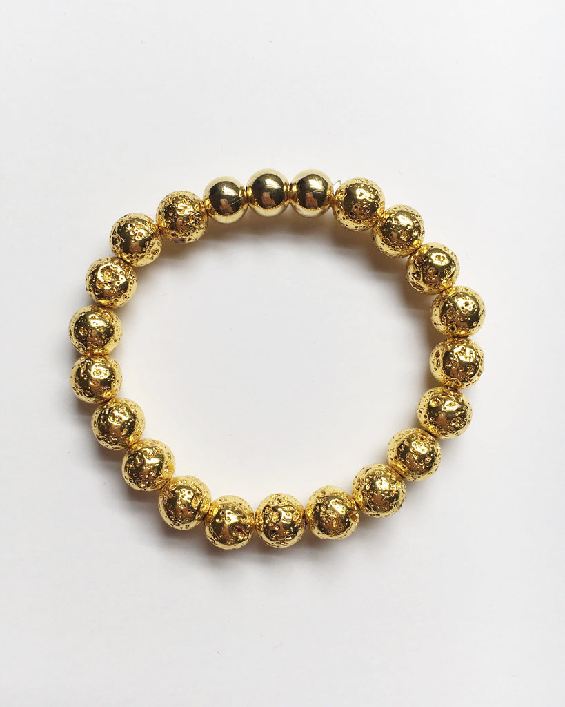 Gold Lava Rock Bracelet