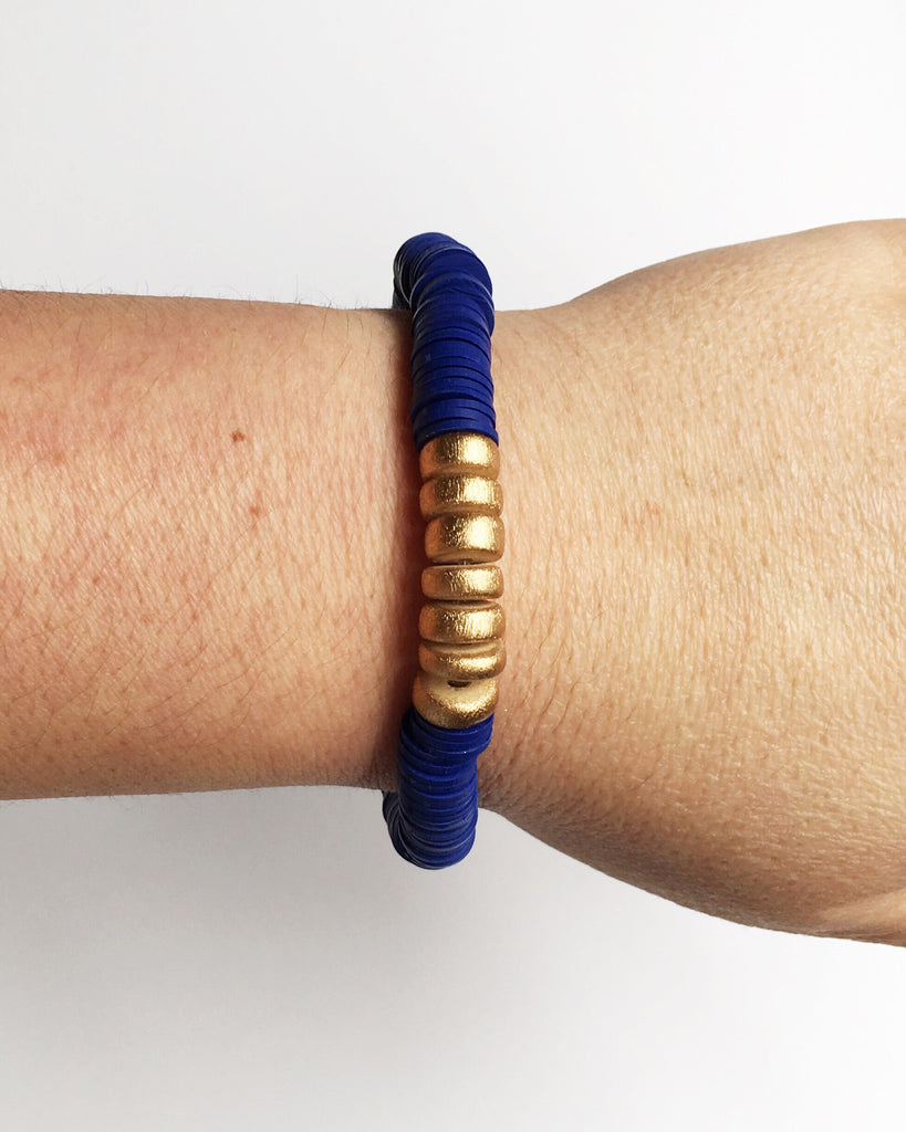 Navy Blue Confetti Stacking Bracelet
