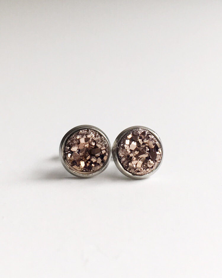 Matthew J. Ruiz Memorial Scholarship Rose Gold Studs