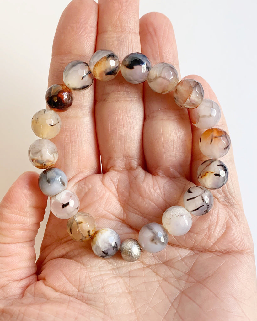 Dragon Agate Beaded Bracelet