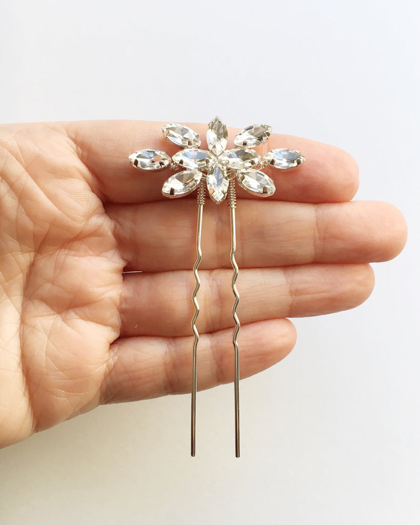 The Elaine Crystal Hair Pin
