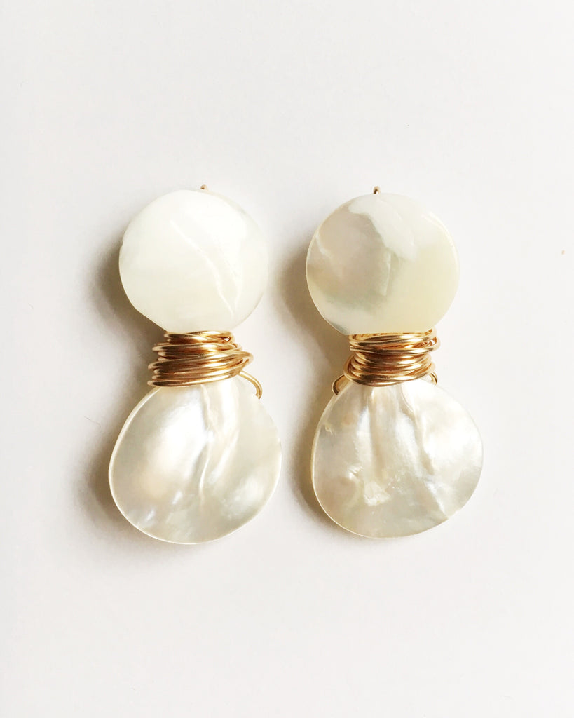 Mother of Pearl Teardrop Resort Collection Earrings
