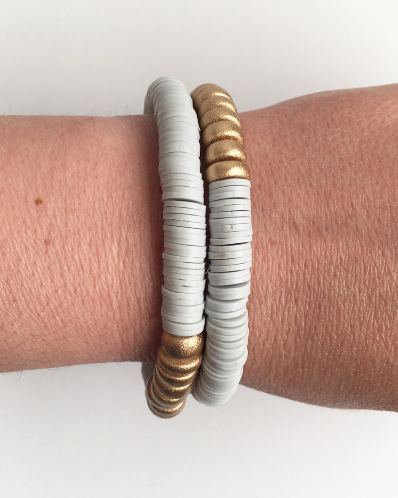 Gray Confetti Stacking Bracelet