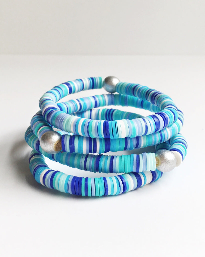 Blue Confetti Stacking Bracelet