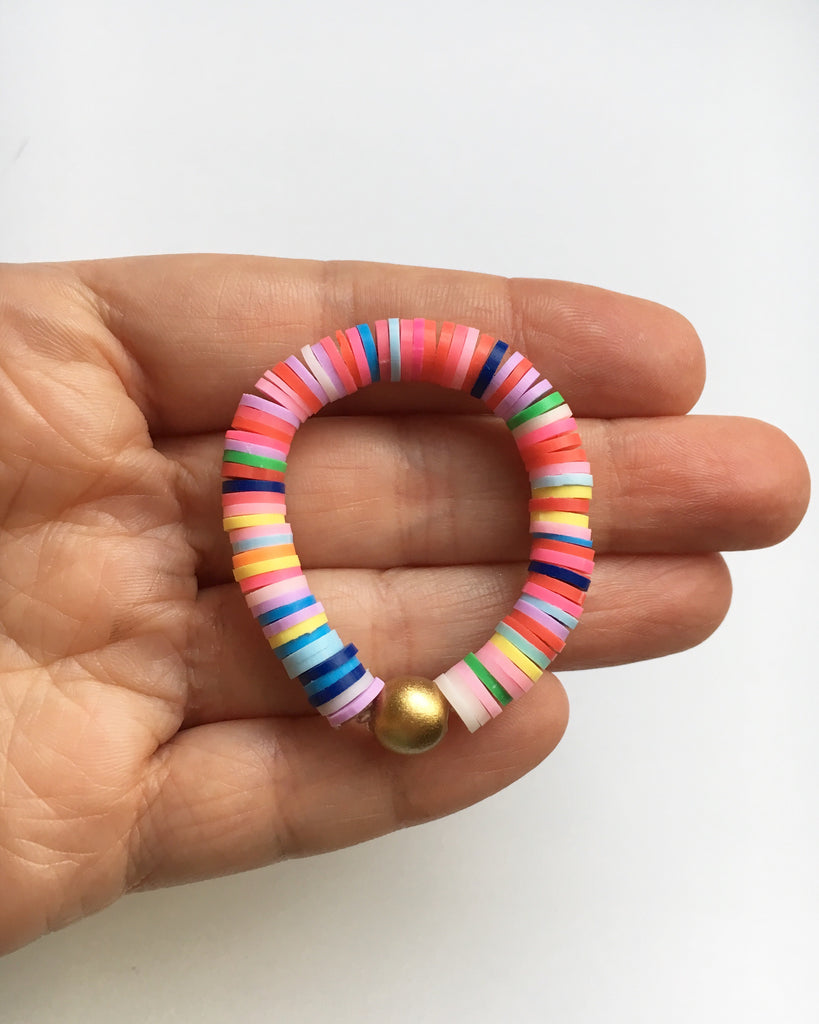 Mommy and Me Rainbow Bracelets Set