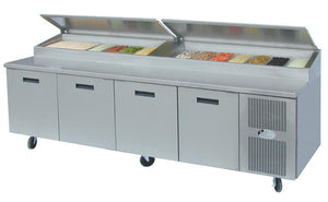 Refrigerated Raised Rail Prep Table
