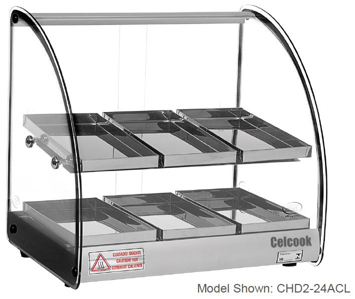 Celcook Heated Display Cases - CHD2-24ACL - ACL Line
