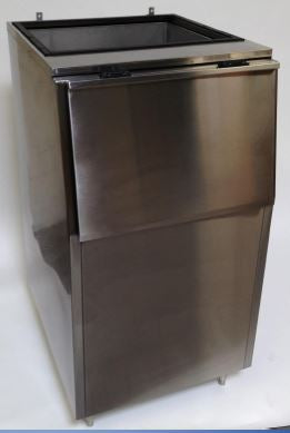 Kloppenberg - K-825 - Slope Front Bin in Stainless Steel