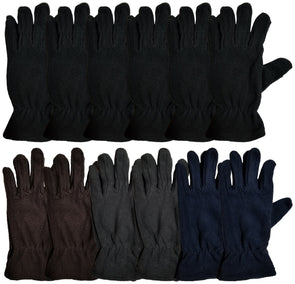 Men's Fleece Gloves (12 Pack)