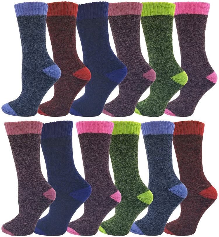 Women's Brushed Thermal Socks (12 Pack)