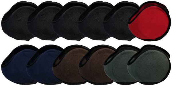 Foldable Earmuffs - Assorted (12 Pack)