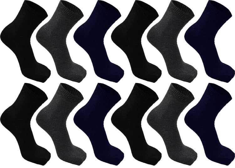 Men's Heavy Duty Thermal Boot Socks (12 Pack)