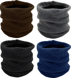 Neck Warmers / Face Cover - Furry Interior (4 Pack)