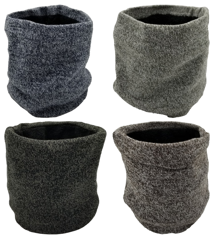 Neck Warmers / Face Cover - Marled Furry Interior (4 Pack)