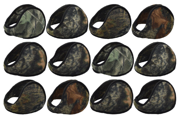Foldable Earmuffs - Camouflage (12 Pack)