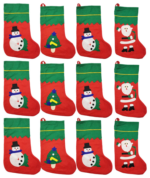 "Christmas Stockings - Holiday Cartoons 15"" (12 Pack)"