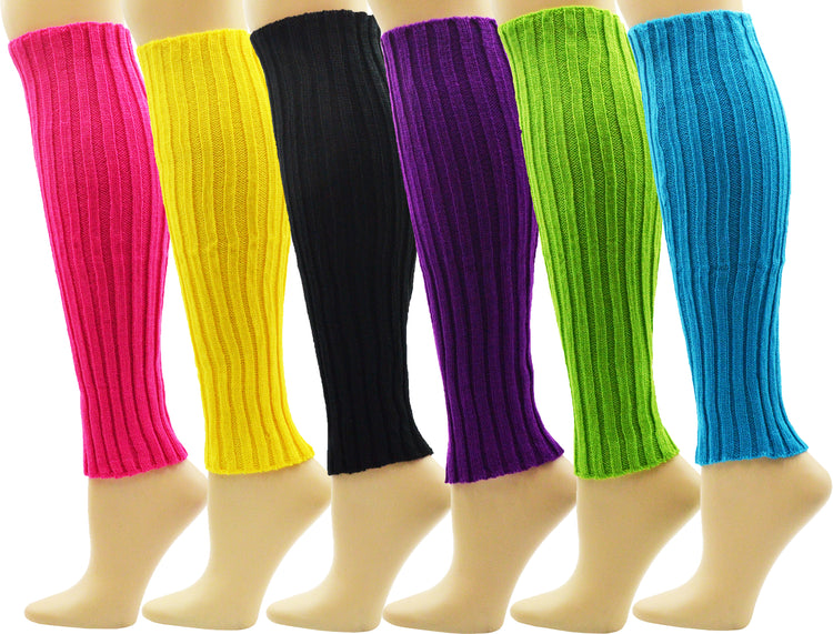 Women's Leg Warmers - Assorted Neon (6 Pack)