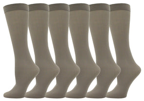 Women's Sheer Trouser Socks - Heather Gray (6 Pack)